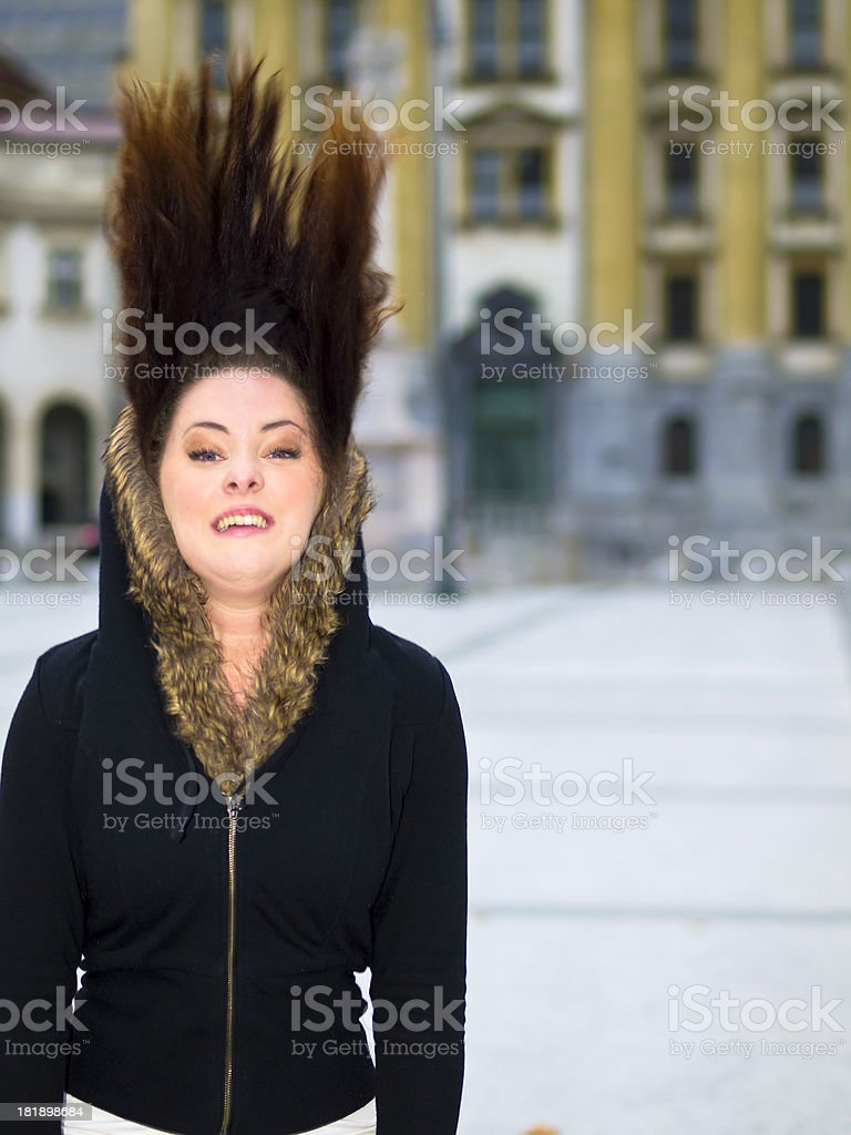 Straight Up royalty-free stock photo