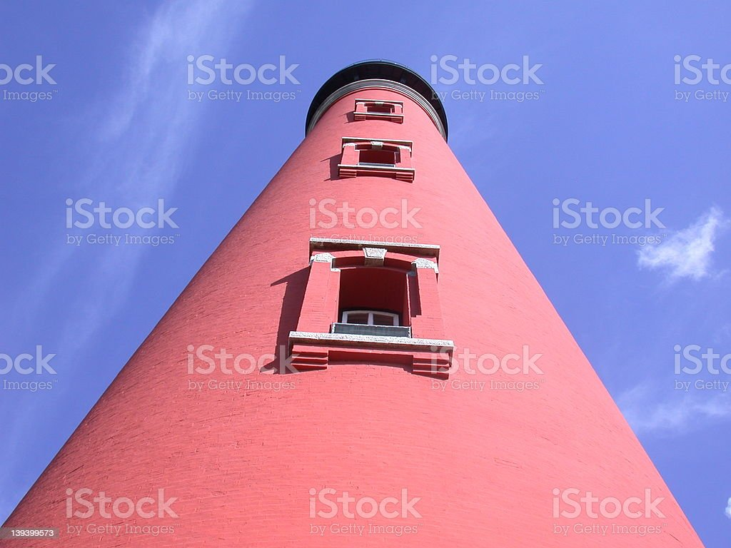 Straight up the Ponce Inlet Lighthouse stock photo