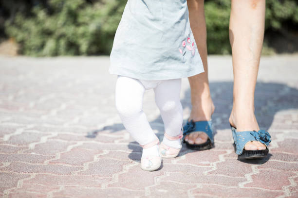 straighten up your legs or you will fall dear - granny legs stock-fotos und bilder