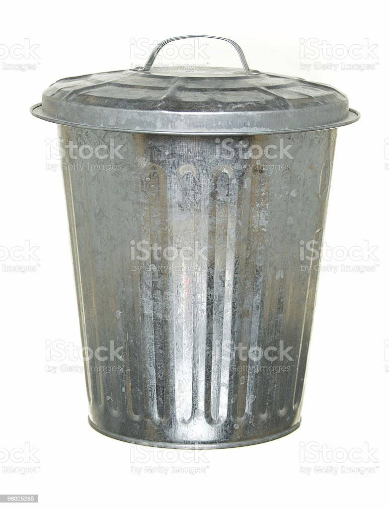 straightforward trash can royalty-free stock photo