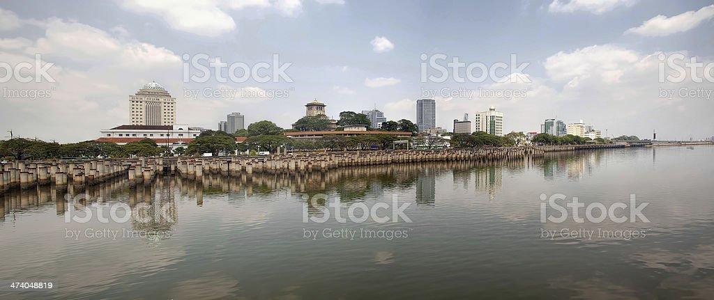 Straits of Johor Panorama stock photo