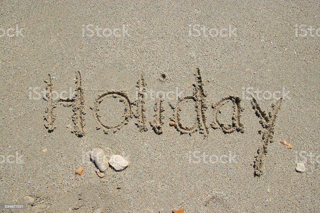 Strand-Urlaub Lizenzfreies stock-foto