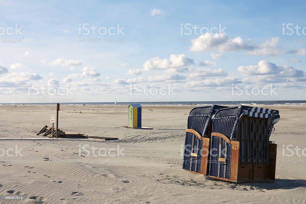 Strand Juist im Spätsommer stock photo