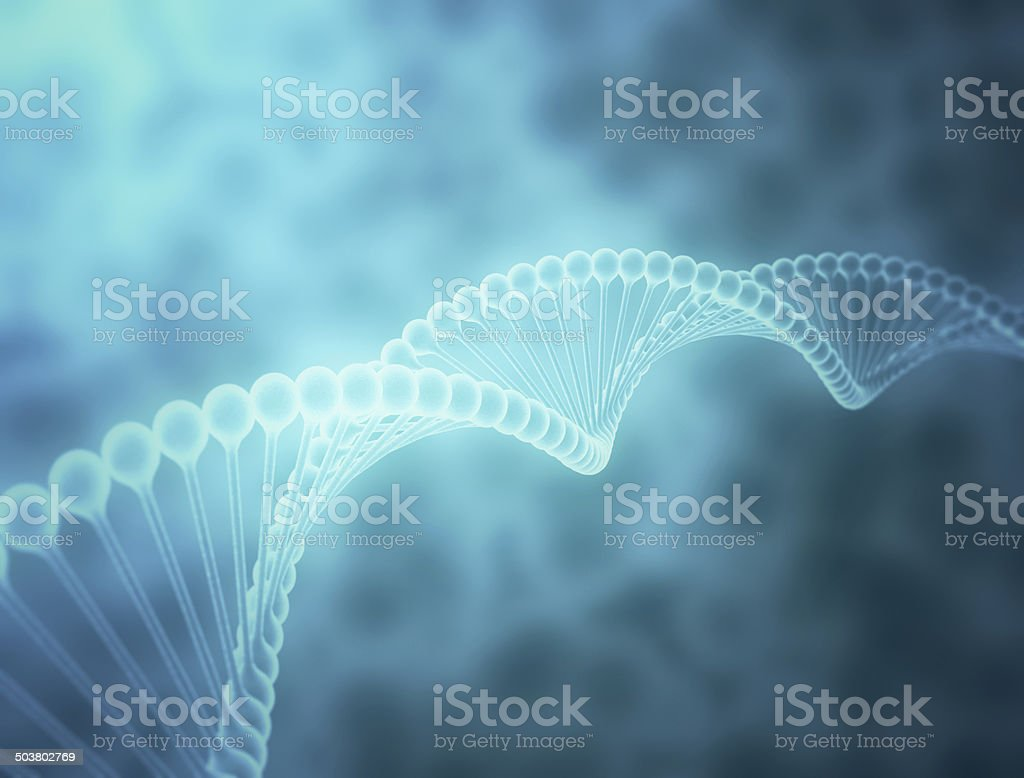 DNA strand stock photo