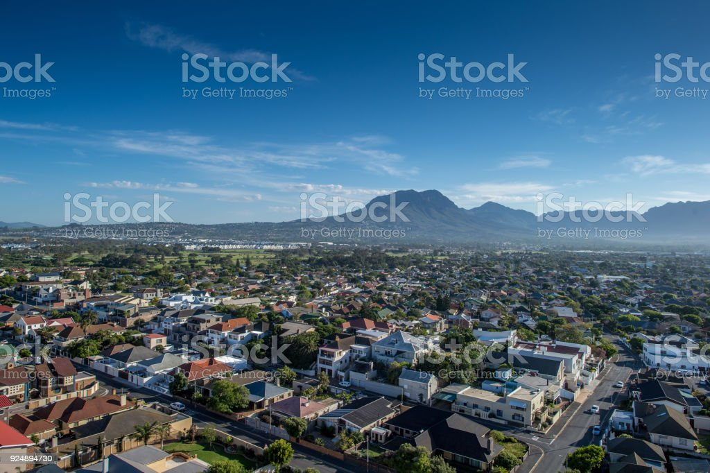 Strand & Somerset West High Angle North East View stock photo