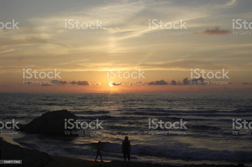 Strandabend stock photo