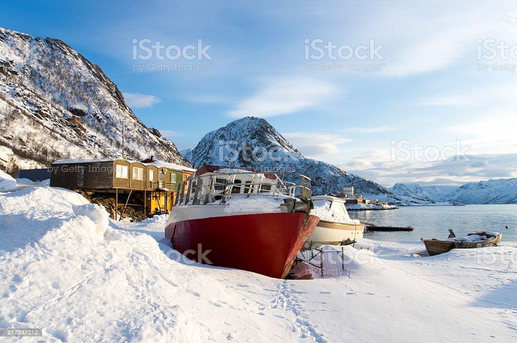 Stranded Boat stok fotoğrafı