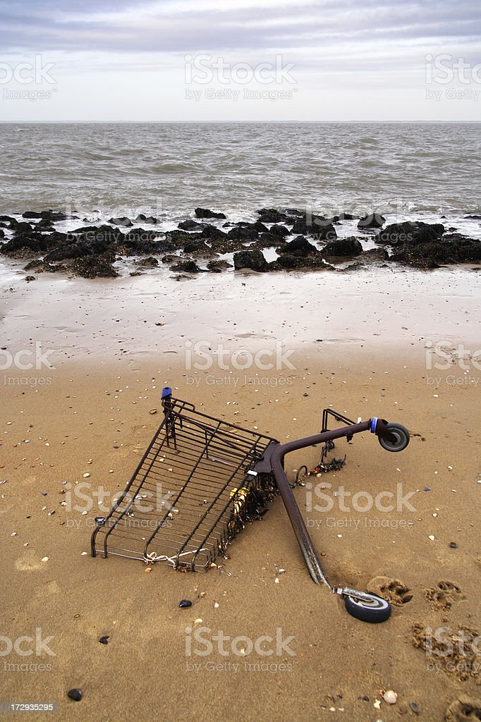 Stranded Cart royalty-free stock photo