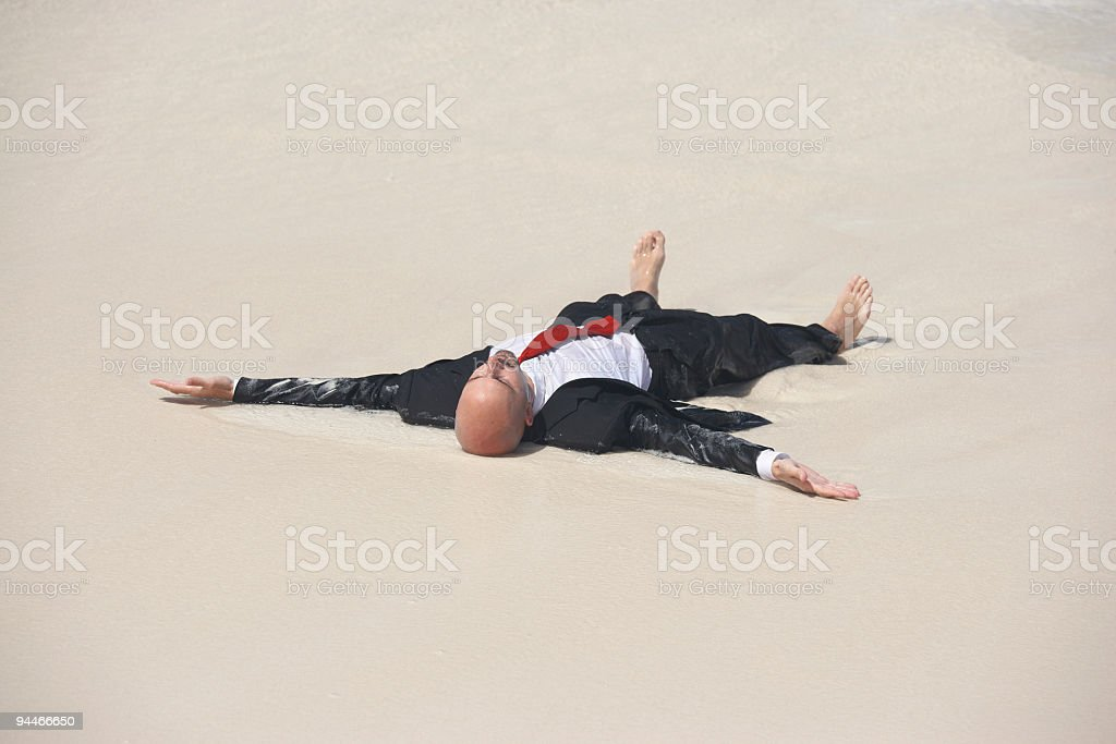 stranded manager royalty-free stock photo