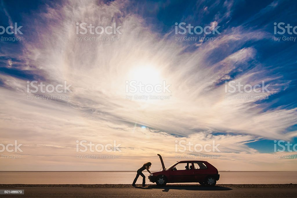 Stranded stock photo
