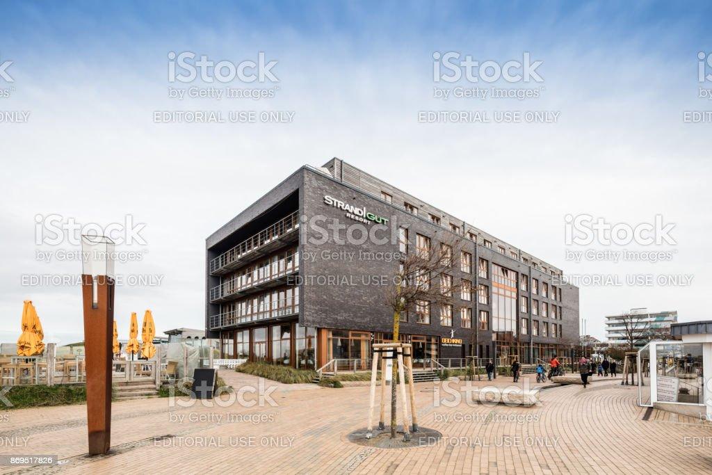 Strandgut Hotel in St. Peter-Ording, Germany stock photo
