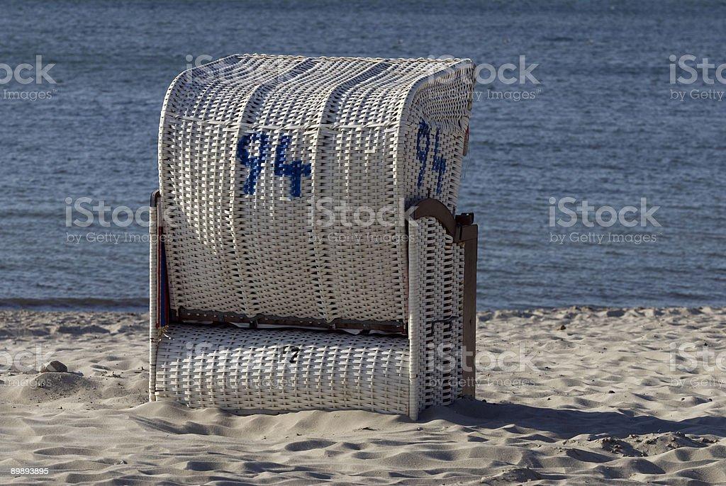 Strandkorb am Strand in Laboe royalty-free stock photo