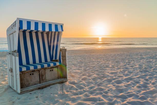Strandkorb Im Raummotive Auf Sylt – Foto