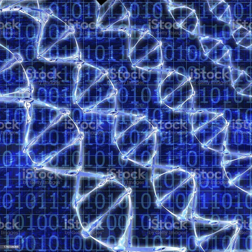 DNA Strands - 3d rendered illustration stock photo