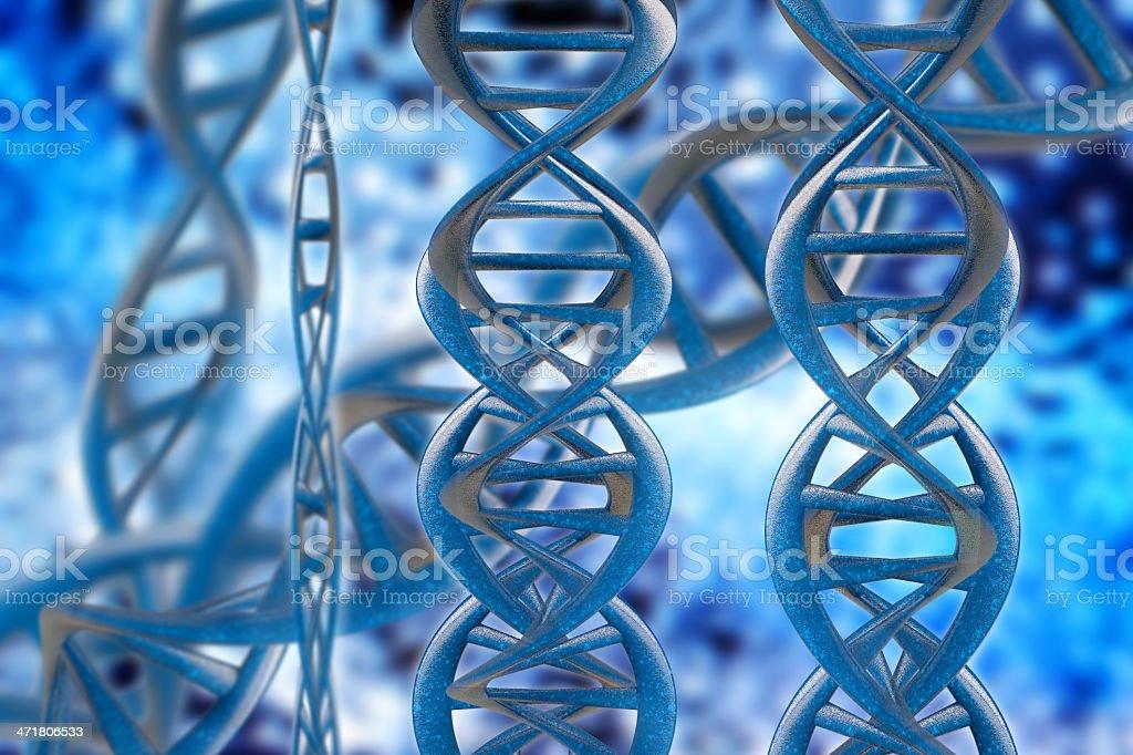 DNA Strands - 3d rendered illustration royalty-free stock photo