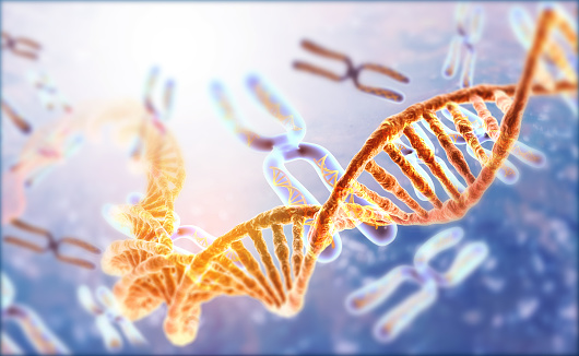 istock DNA strands on Scientific background 1181363446
