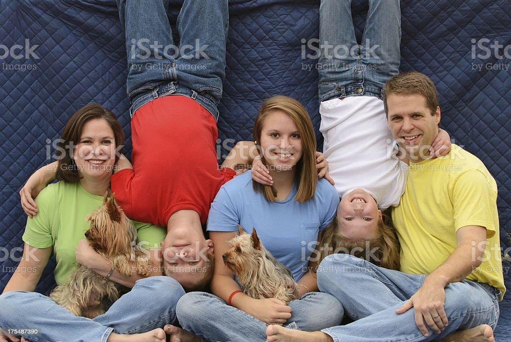 Strange awkward family photo stock photo