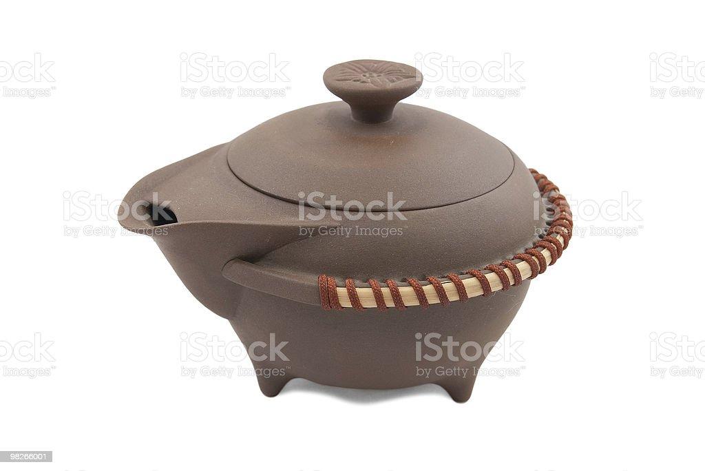 strange chinese pot royalty-free stock photo