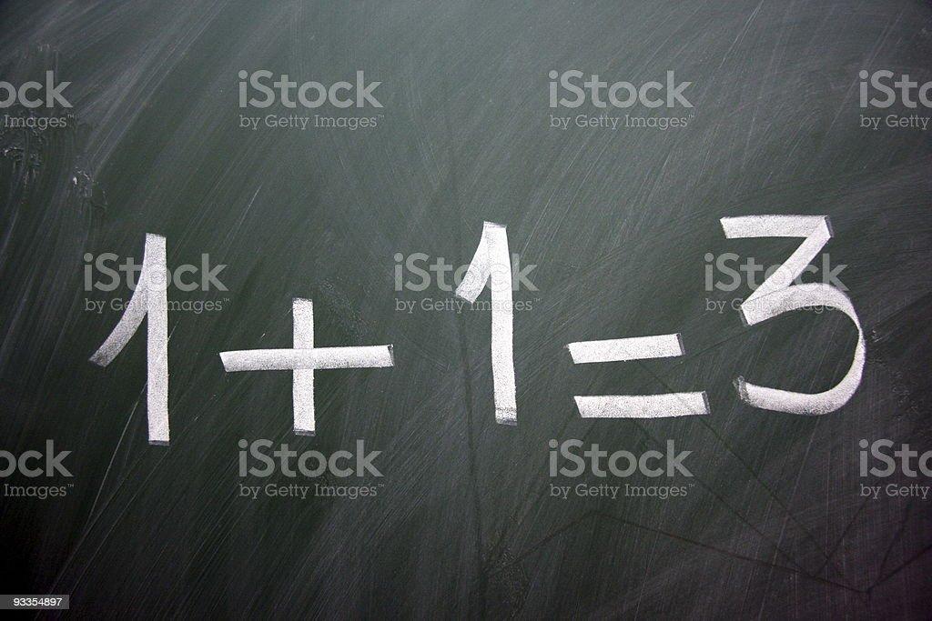 strange equation royalty-free stock photo