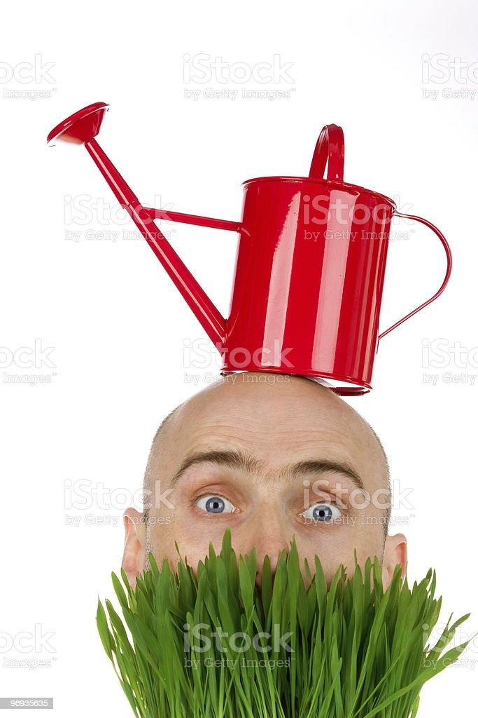 Strange gardener royalty-free stock photo