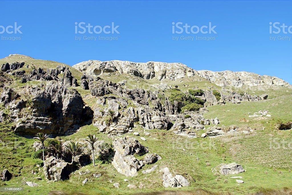 Strange Hills near Paturu River, Golden Bay, NZ stock photo