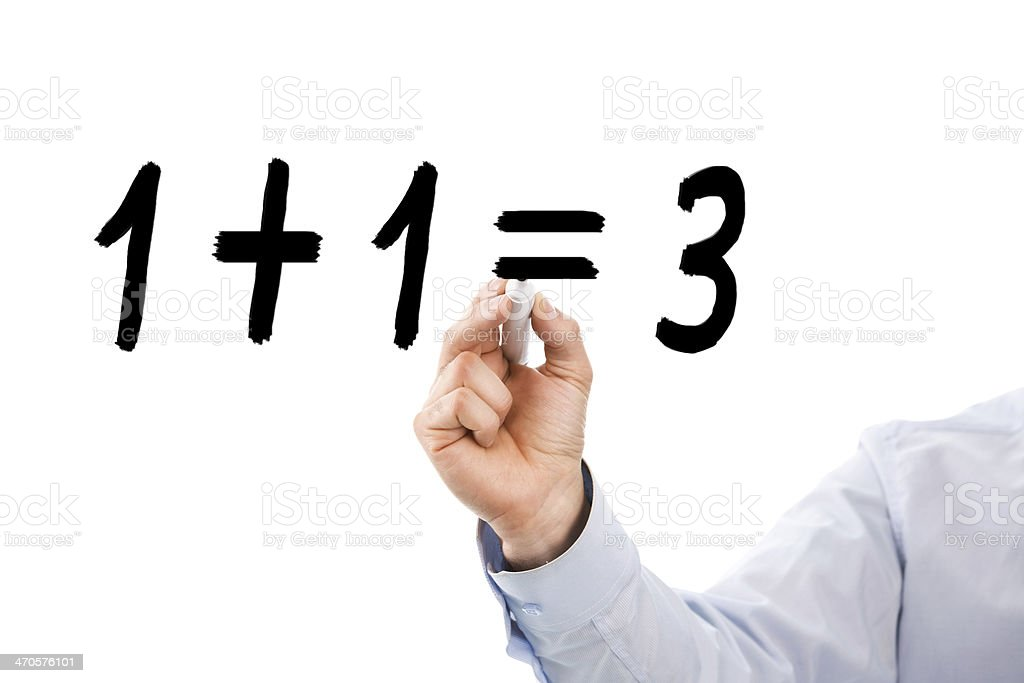 strange mathematics stock photo