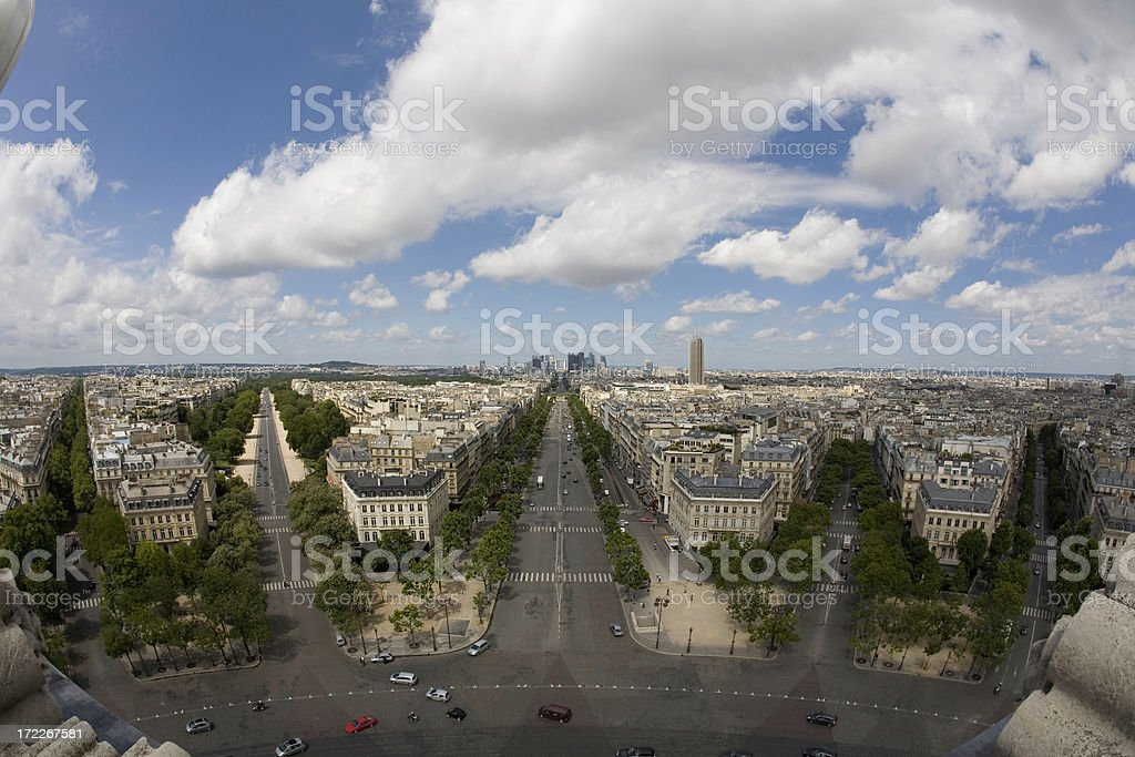 Strange Paris view royalty-free stock photo