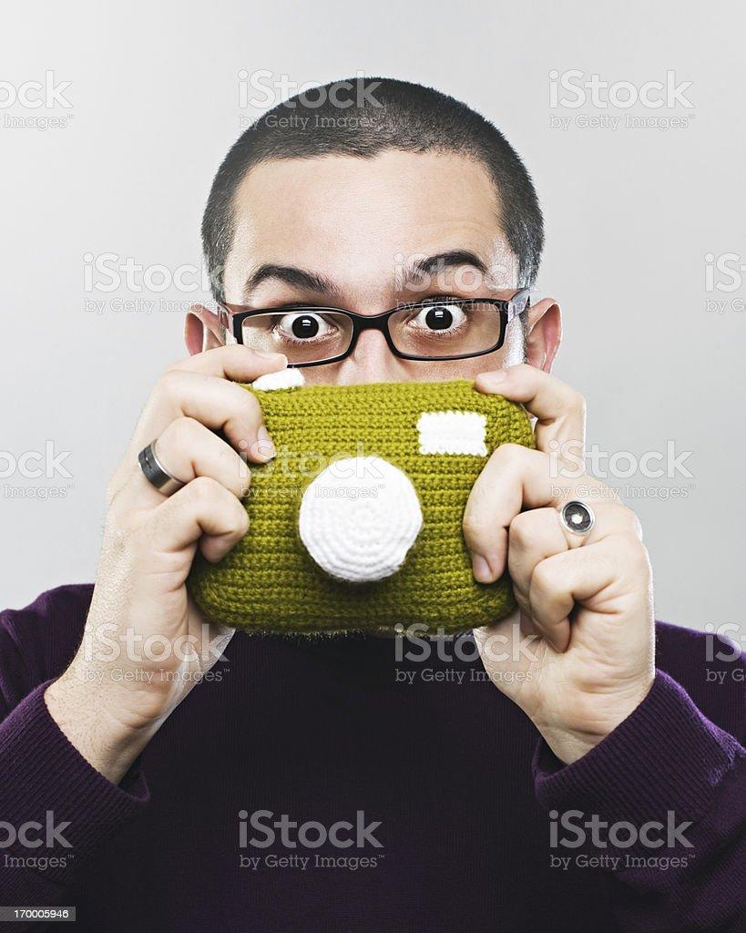 Extraño fotógrafo - foto de stock