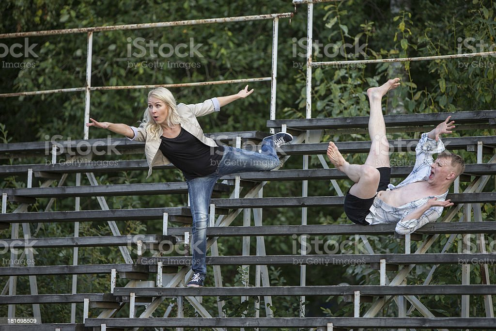 Strange spectators royalty-free stock photo