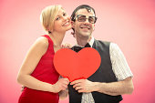 istock Strange young couple in love on valentine 174763450