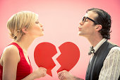 istock Strange young couple in love on valentine 174764918