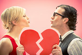 istock Strange young couple in love on valentine 174879205