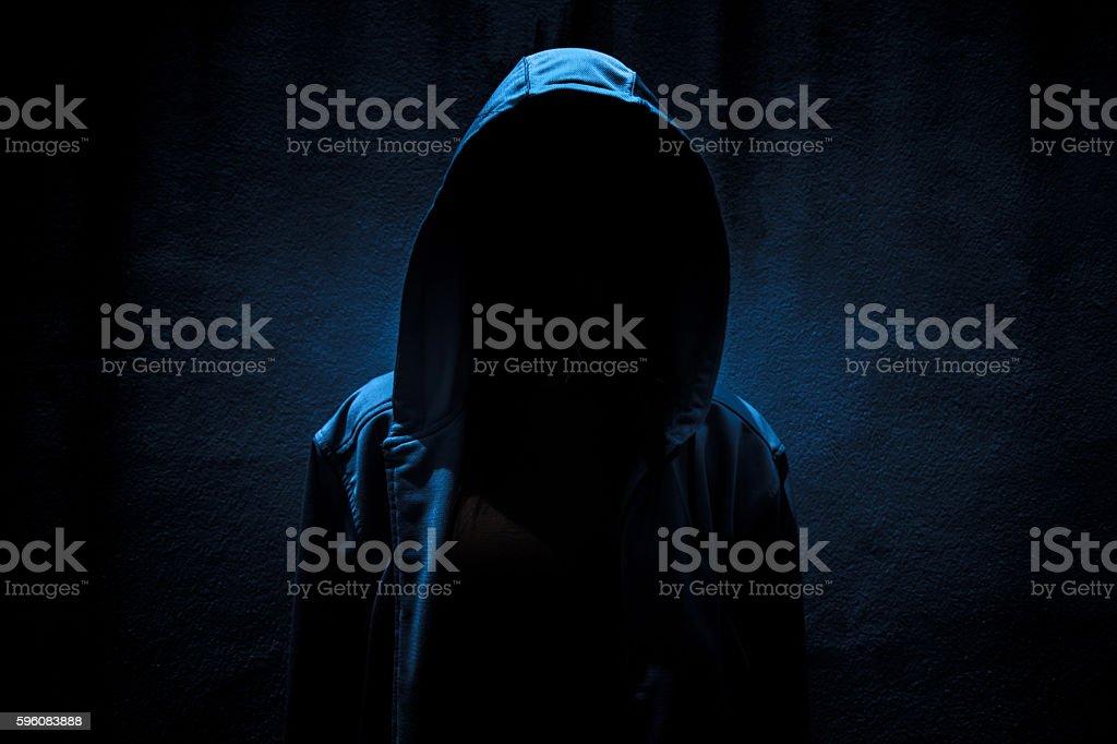 Stranger in the dark royalty-free stock photo