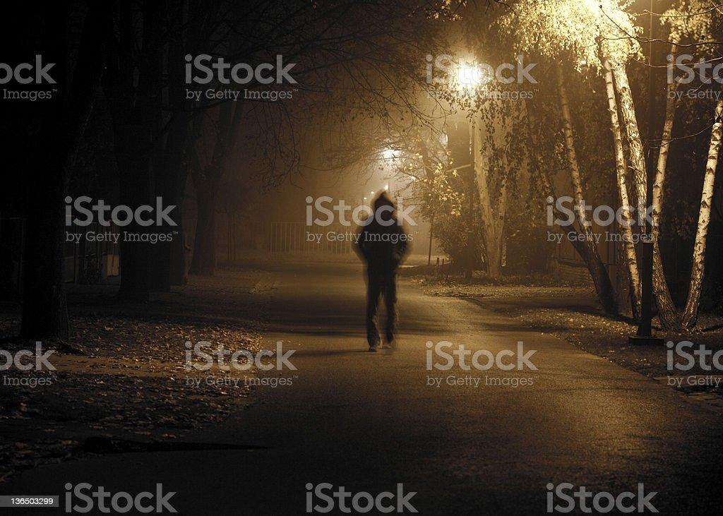 Stranger in the night stock photo