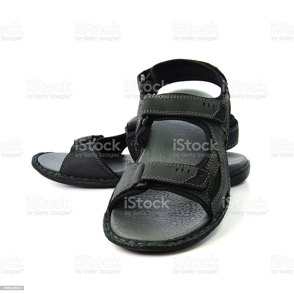 91d167183909 Strap Sandals Isolated On White Background Stock Photo   More ...
