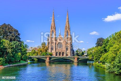 Strasbourg, France. Saint Paul church in Strasbourg.