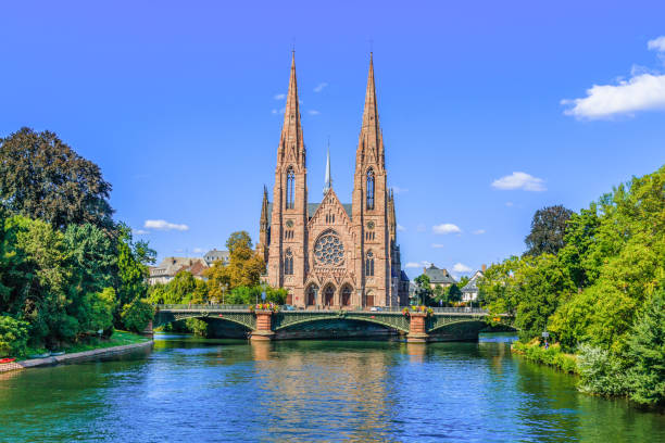 Strasbourg, France. Strasbourg, France. Saint Paul church in Strasbourg. strasbourg stock pictures, royalty-free photos & images