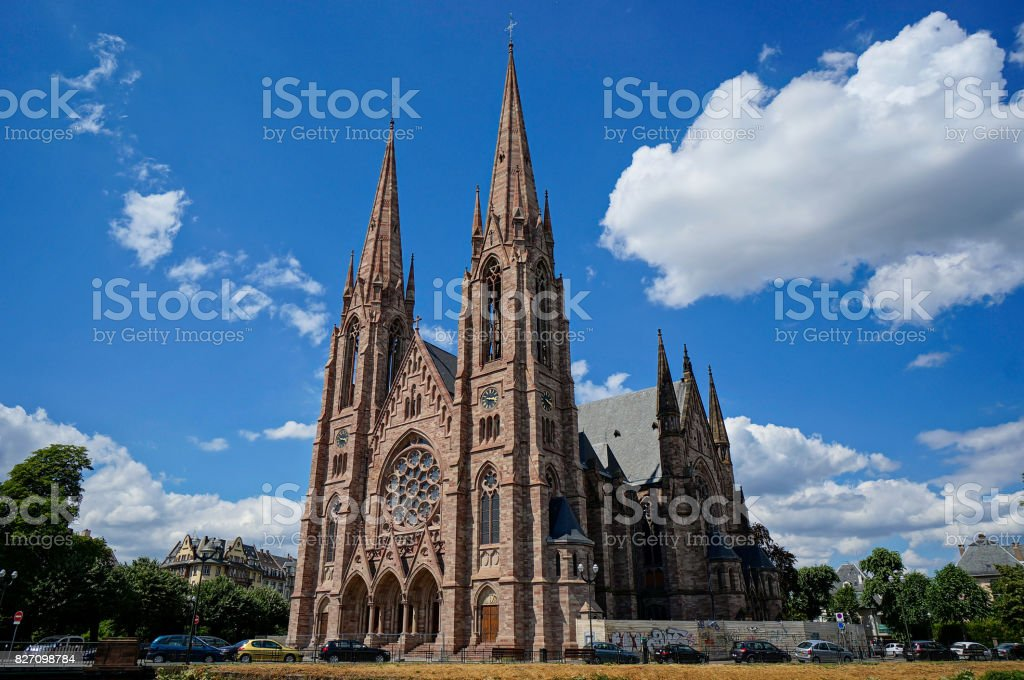 Strasbourg Notre Dame stock photo
