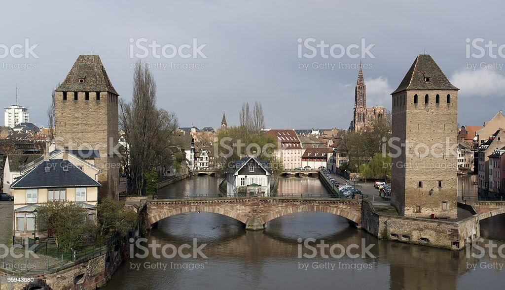 Strasbourg scenery in cloudy ambiance royalty-free stock photo