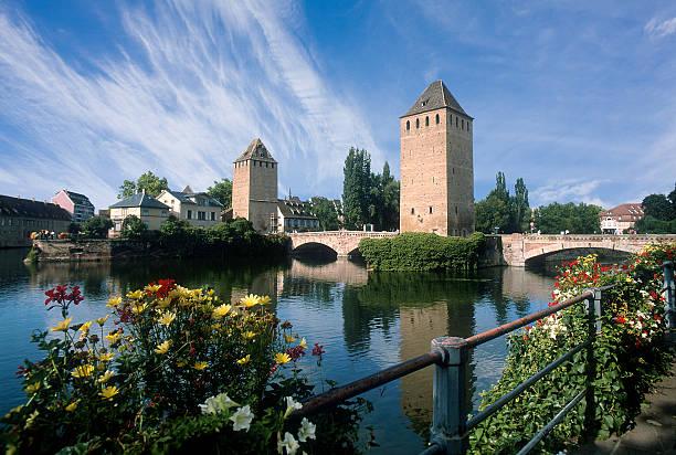 Strasburg. Pont Couvert. France. stock photo