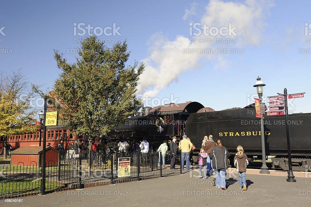 Strasburg Rail Road Station stock photo