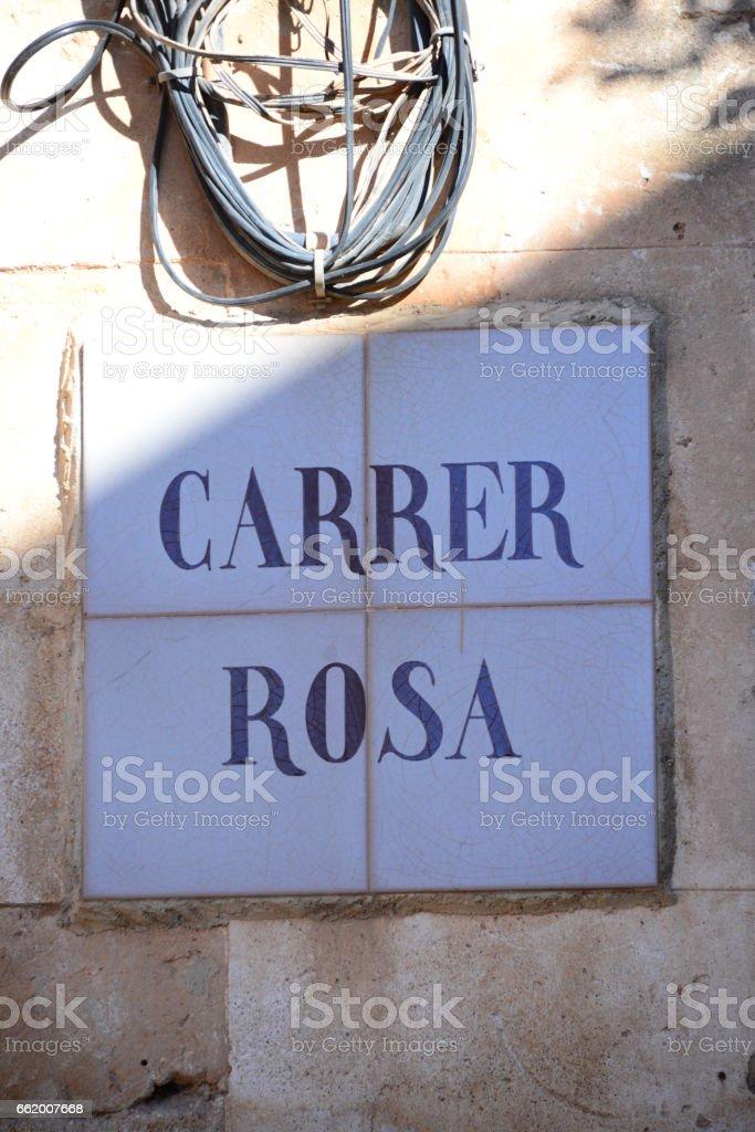 Strassenschilder in Spanien royalty-free stock photo