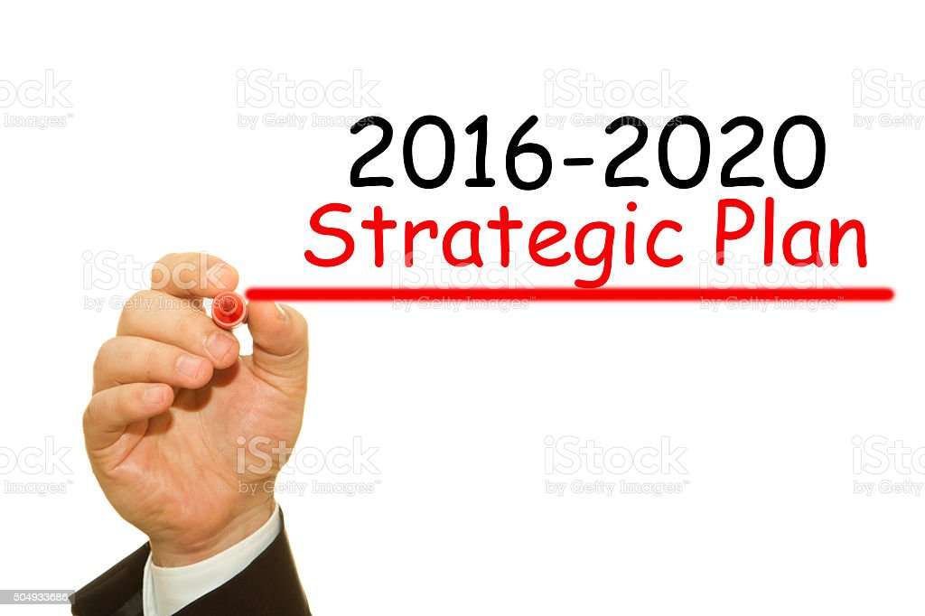 strategic plan stock photo