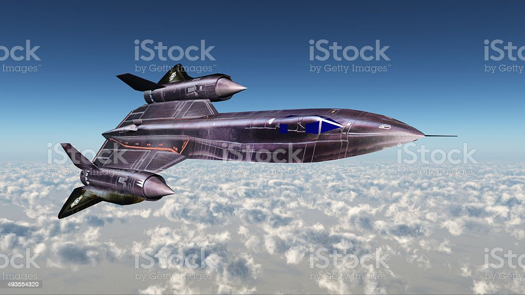 Strategic Reconnaissance Aircraft Blackbird stock photo
