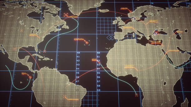 Strategic World Map With Infographics stock photo