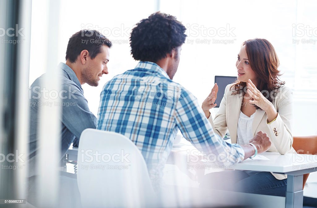 Strategizing their way to success stock photo