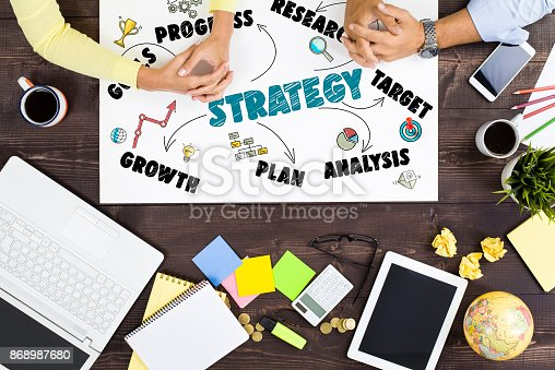 625727674 istock photo Strategy Business Concept 868987680