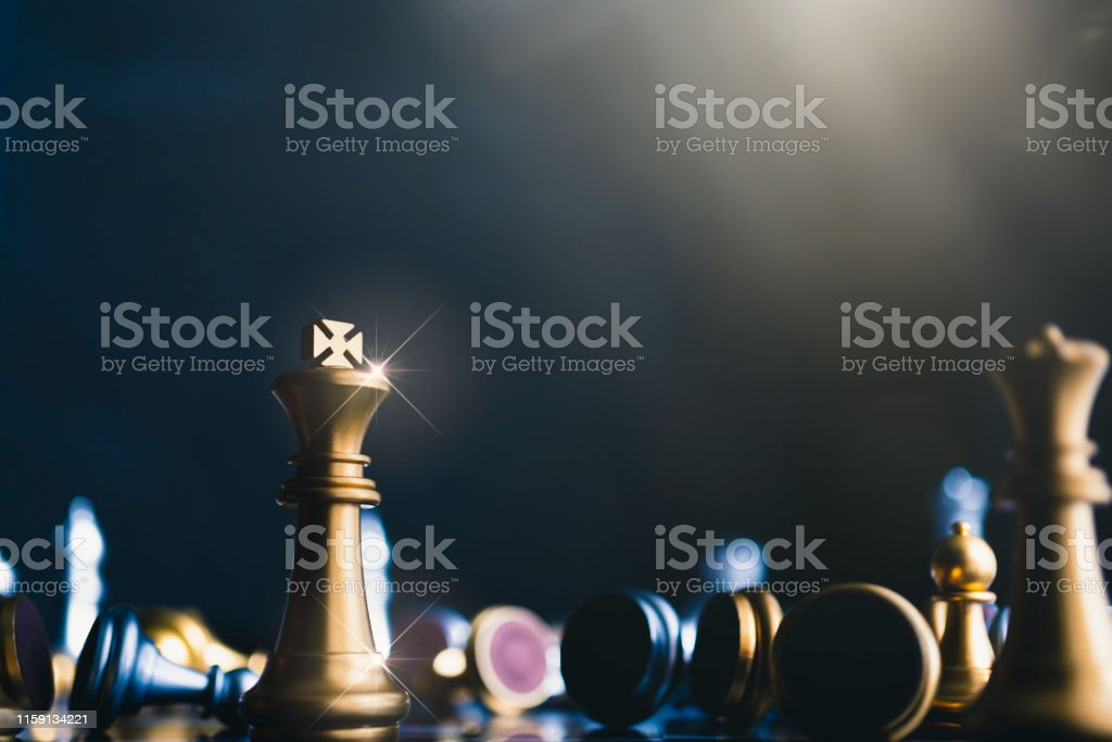 strategy competitive ideas concept with chess board game vintage...