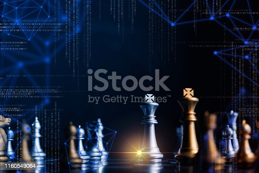 istock strategy competitive ideas concept with chess board game vintage color tone 1160549064