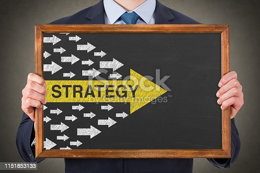 istock Strategy Concepts on Chalkboard Background 1151853133